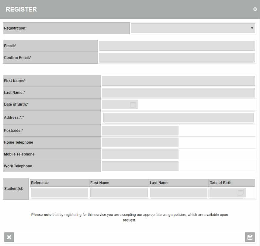 Parent Portal Registration