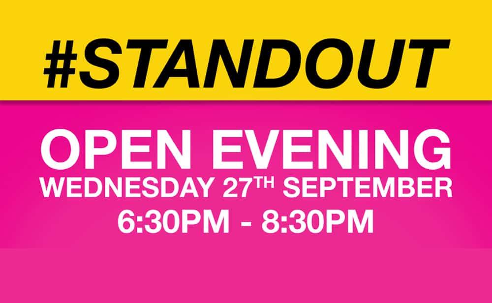 #STANDOUT Open Evening 2017