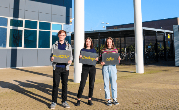 A class act! Students celebrate offers from the University of Cambridge