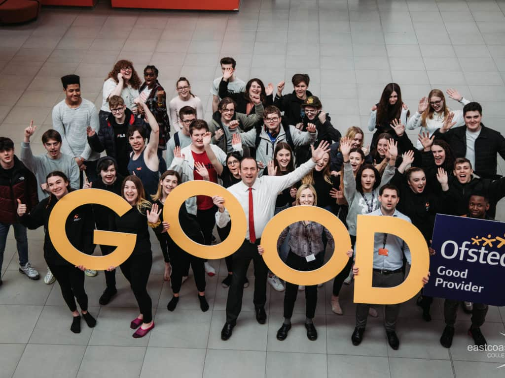 Proud to be part of an Ofsted Good College!